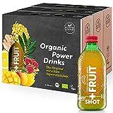 Kloster Kitchen Bio Shot+ Fruit Ingwer-Himbeere 9 x 330 ml I Veganes, erfrischend stilles Soft Getränk aus Ingwer Shot & Fruchtsaft I 100% natürliche Bio Zutaten ohne Zusätze in der Glasflasche