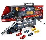 Storio 6 in 1 Vehicle Playsets McQueen Pixar Cars 3 Jackson Storm Daniel Swervez Mack Uncle Truck Hauler and 6PCS Mini Model Car Figure Toys for Kids