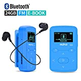 Mymahdi Sport Music Clip Reproductor de MP3 Bluetooth de 24GB con Radio