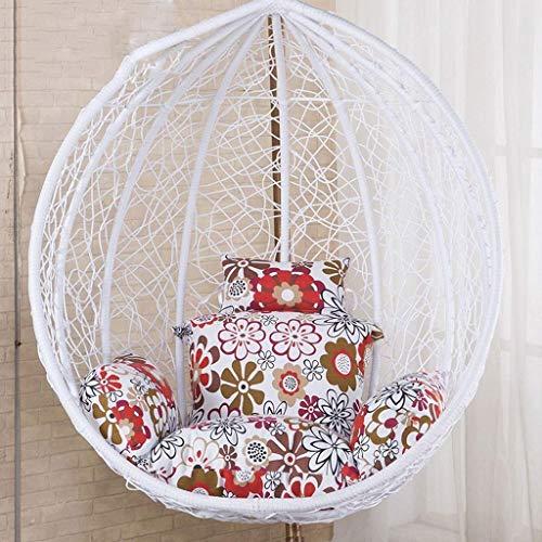 kaikai Hamaca Silla de Huevo de ratón, Colgantes de ratán Silla balancín Cojines del Amortiguador con apoyabrazos al Aire Libre/Cubierta Jardín Muebles de terraza (Color: D) (sin Silla)