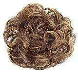 PRETTYSHOP Postizo Coletero Peinado alto, VOLUMINOSO, rizado, Moño descuidado marrón de la mezcla #30H26 G31A