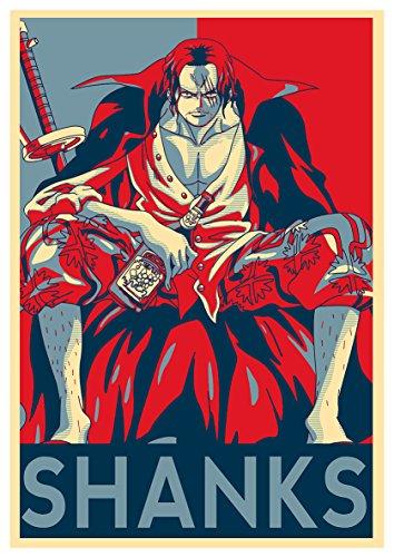 Instabuy Poster One Piece Propaganda Shanks - A3 (42x30 cm)