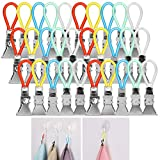 (30-Pack) Kitchen Towels Clip, Akwox Tea Towel Holder Clips,Cloth Hook Clip Hangers for Home Kitchen Bathroom Cupboards Hanging Towels