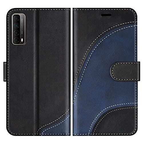 BoxTii Cover per Huawei P Smart 2021, Custodia in PU Pelle Portafoglio per Huawei P Smart 2021, Magnetica Cover a Libro con Slot per Schede, Nero