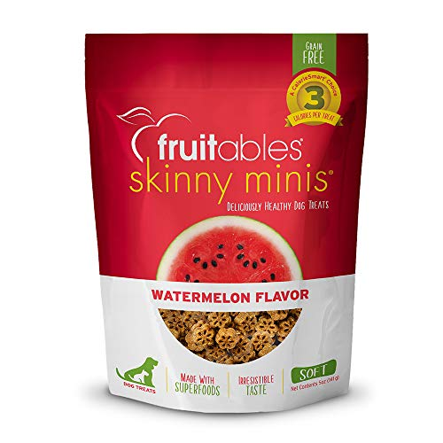 Fruitables Skinny Minis Grain Free Soft Treats for Dogs   Watermelon Flavor...