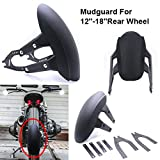Motorcycle Rear Fender 1PCS Motorcycle Clean Fender Mudguard Splash Guard For 12''-18'' Rear Wheel Universal Mudflap Mud Guard Cover 7 Hole Adjustable, Motorbike Splash Guard Motorbike Splash Guard