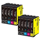 PayForLess 16XL Cartuchos de Tinta para Epson 16 16XL Compatible con Epson Workforce WF 2510 WF 2630 WF 2750 WF-2760 WF 2660 WF 2650 WF 2540 WF 2530 WF 2520 WF 2010 (4 Negro,2 Rojo,2 Amarillo,2 Azul)