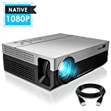 1080P Projector, CiBest Upgraded Native 1080P 3600 Lux Projector HD Video Movie LED Projector...