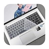 カラフルな防塵シリコーン14インチのラップトップのキーボードカバープロテクタースキンfor HP ProBook 430440640 G4 G5 2018ノートブックPC-Clear-