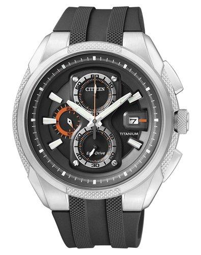 Citizen Herren-Armbanduhr Chronograph Super Titanium CA0200-03E