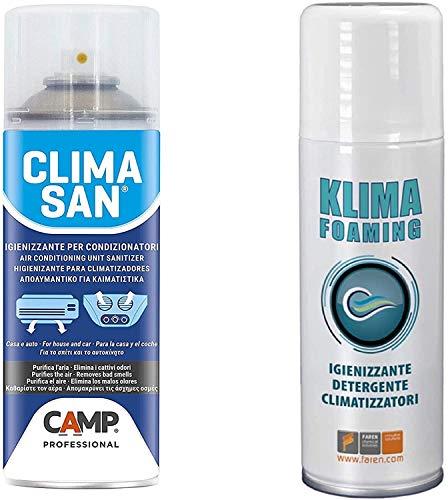 Trattamento Sanificante ed Igienizzante Completo Climatizzatori Detergente Klima Foaming + Igienizzante Climasan