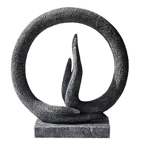 Carefree Fish Buddha Hand Statue Yoga Decoration Minimalist Sandstone Art Collection Abstract Sculpture Desk Ornament