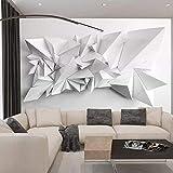 Sala de estar mural visual blanco y negro origami restaurante fondo pared tela sala de estar impermeable papel tapizPapel Pintado a papel Fotográfico Fotomural dormitorio-400cm×280cm