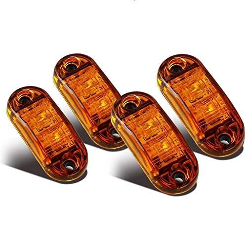 LED Seitenmarkierungsleuchten 12V/24V für Auto LKW Anhänger SUV Van Wasserdicht Markierungsleuchten E-geprueft-WildAuto (Gelb 4pcs)
