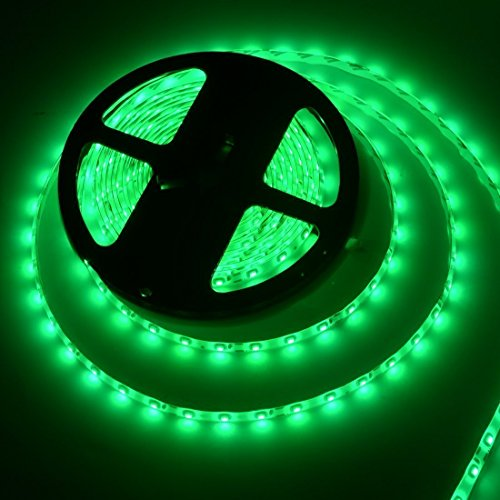 Flexible LED Strip Lights,300 Units SMD 5050 LEDs,LED Strips,Waterproof,12 Volt LED Light Strips, Pack of 16.4ft/5m,for Holiday/Home/Party/Indoor/Outdoor Decoration(Green)