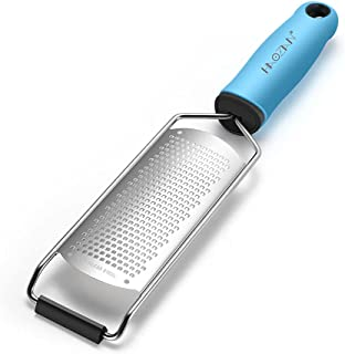 Multipurpose Zester Grater - Parmesan Cheese, Citrus, Lemon, Lime, Ginger, Chocolate, Fruits, Soft Grip Handle, Stainless ...