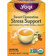 Yogi Tea - Sweet Clementine Stress Support (6 Pack) - Adaptogens to Support Overall Health - 96 Tea Bags