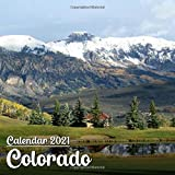 Calendar 2021 Colorado: Beautiful Colorado Photos Monthly Mini Calendar | Small Size