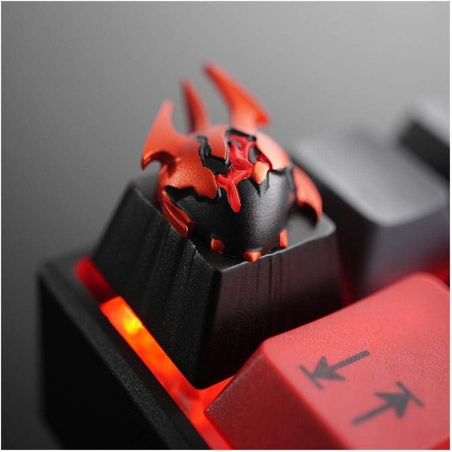 Keyboard keycaps 1pc ZOMO 3D Aluminium Alloy Key Cap Full Metal Mechanical Keyboard Keycap for Dota 2 Heart of Tarrasque Warcraft Manta Style Color : Blade Master