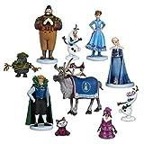 GSDGSD 10 unids/Set Frozen Snow Queen Elsa Anna PVC Figuras de acción Olaf Kristoff Sven Anime muñecas figuritas Juguetes para niños para niños Regalos