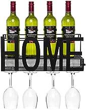 Best Choice Products Wall Mount Decorative Wine Cocktail Storage Shelf w/Caged Cork Storage, Black