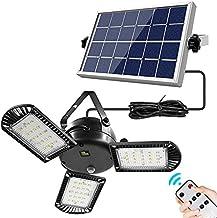 800LM 60 LED Solar Lights 3 Heads Verstelbare Helderheid Outdoor IP65 Waterdichte kampeerverlichting met afstandsbediening...