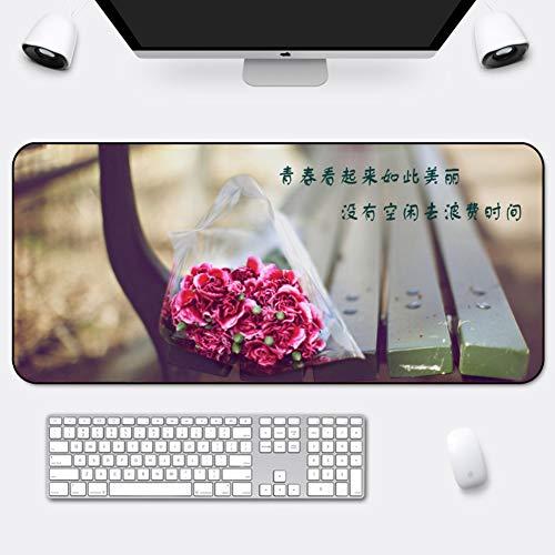 Z IMEI Gaming-Maus-pad Große Verlängert Desk-pad-Protector Mit Durable Stitched Edges Nicht-Slip Gummifuß Waschbar Zu Gamer Büro & Haus-m 90x40cm/35x16inch