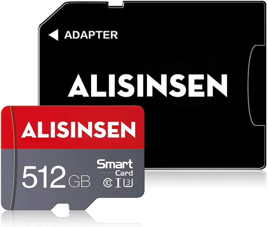Micro SD Card 512GB with a SD Card Adapter Memory Card 512GB Class 10 TF Card 512GB High Speed SD Memory Card for Camera Tablet Computer Phone Surveillance Tachograph Drone