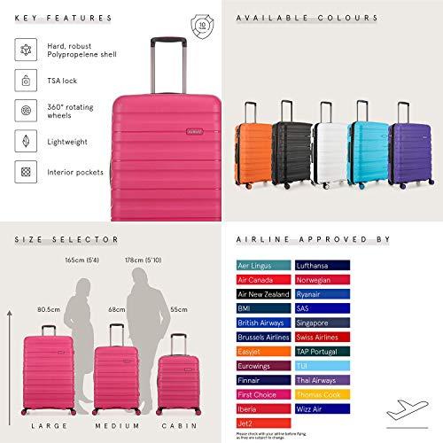 Antler Juno II Brights Cabin Suitcase Pink , Size: 55 x 40 x 20