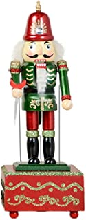 ZaH 12 Inch Christmas Ornament Nutcracker Wooden Music Box Christmas Decorations Gifts Nutcracker Puppets, Conductor