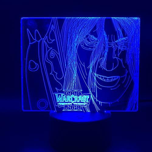 Warcraft - Frozen Throne, Bunte Illusionslampe 3D, Führte Smart Touch Stereo Illusionslampe
