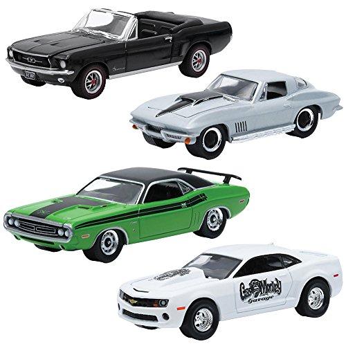 "Hollywood Film Reels Series 3 ""Gas Monkey Garage"" 4 Cars Set 1/64 by Greenlight 59030 B"