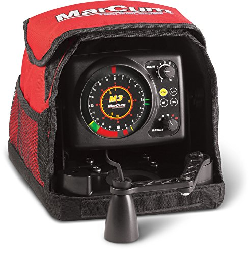 MarCum Flasher System M1 Flasher System, Black/Red