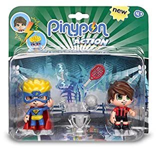Pinypon Action - Pack de 2 Figuritas Superhéroe y Futbolista (Famosa 700014492) , color/modelo surtido