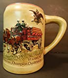 1980 BUDWEISER CS19 1ST HOLIDAY CHRISTMAS STEIN CHAMPION CLYDESDALES