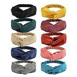LADES DIRERCT Damen Haarreifen - 10/6/4 Sätze Haarband Frauen Vintage Stirnbänder Twist Knoten...