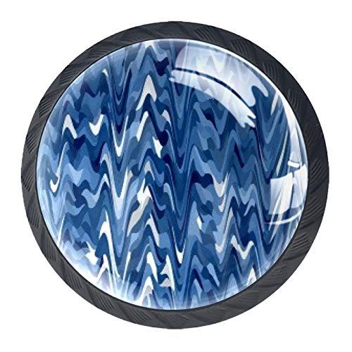 TIZORAX Schubladenknäufe, V-förmig, umgedreht, rund, für Küchenschrank, Schrank, Kommode, Tür, Heimdekoration, 4 Stück