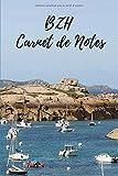 BZH Carnet de Notes: Carnet de Notes ligné - 6' x 9' pouces - format cahier - 15,24 cm x 22,89 cm - 100 pages - poster bretagne - notebook - journal de voyages