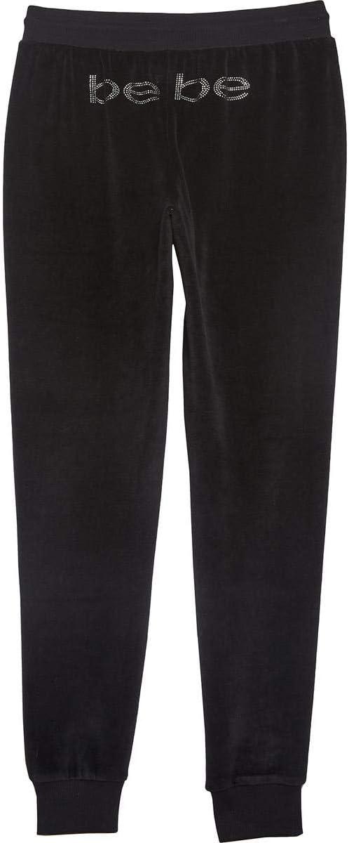 Bebe Sport Womens Velour Rhinestone Cozy Bootcut Pants BHFO 6189