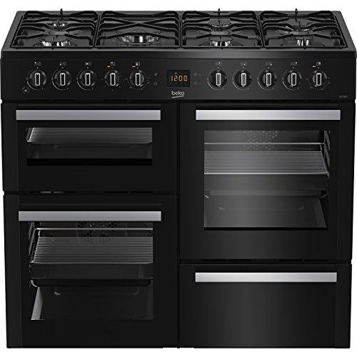 Beko 100cm Dual Fuel Range Cooker BE10DUFK | Double Oven, 7 Gas Burners in Black