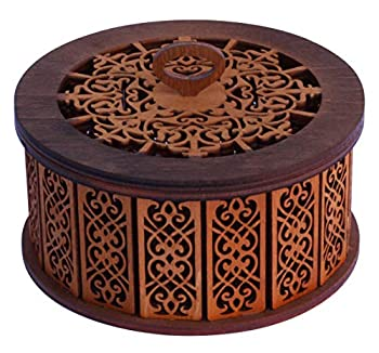 Wooden Jewelry Box Decorative Carved Case Universal Wooden Bohemian Box For Jewelry Wooden Jewelry Box - Great Idea for Gift Compositions