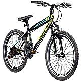 Jugendfahrrad 24 Zoll Mountainbike Fahrrad 24' Geroni Magnum Hardtai MTB Jugend (schwarz/grün/blau,...