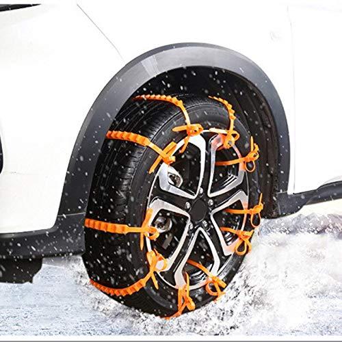 YHtech Cadenas TIOODRE 10Pcs Coche del neumático de Nieve Antideslizantes Cadenas de neumáticos de Nieve del neumático de Rueda de la Correa Cable Fit Ancho del neumático de Nieve 145-295 Herramienta