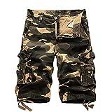 Astemdhj Pantalones Cortos Pantalones Cortos De Camuflaje Cargo para Hombre Pantalones Cortos Informales De Camuflaje De Verano para Hombre Pantalones Cortos De Algodón para Hombre Al Aire