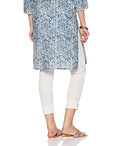 Amazon Brand - Myx Women's Cotton Slim Fit Cigarette Pants (SS18NITPJM01_White_M)