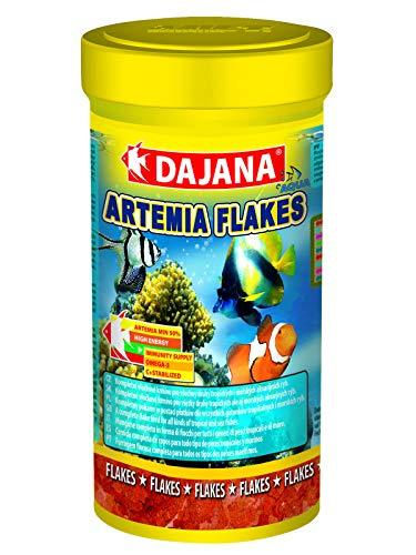 Dajana Artemia Flakes - Complete Flockenfutter für alle Arten von Süß- oder Meerwasseraquarium Fisch (250 ml)