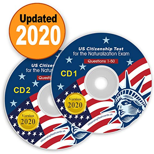 US Citizenship Test Study Guide 2020 CD Audio (2 Disks) Official 100 USCIS | 100 Questions & Answers USA Naturalization Civic Question|