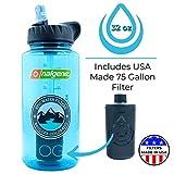 Epic Nalgene OG | Water Filtration Bottle | Wide Mouth 32 oz | American Made Bottle | USA Made Filter Removes 99.99% of...