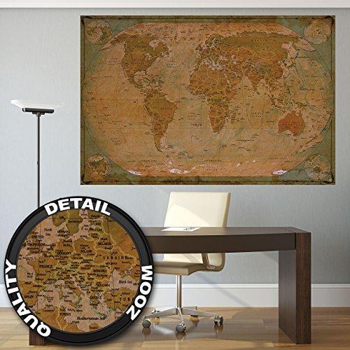 GREAT ART XXL Póster – Mapa Histórico Mundo –