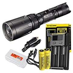 POWERFUL ILLUMINATION – The SRT7GT is equipped with the sophisticated CREE XP-L HI V3 LED giving off up to 1000 lumens of vibrant white light visible up to 1500 feet away. PATENTED SMART RING – Nitecore's Third Generation patented Smart Ring Technolo...